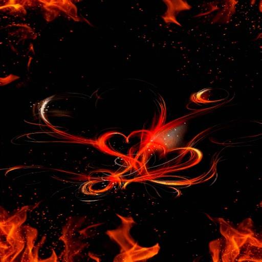 Animated Fiery Hearts LWP