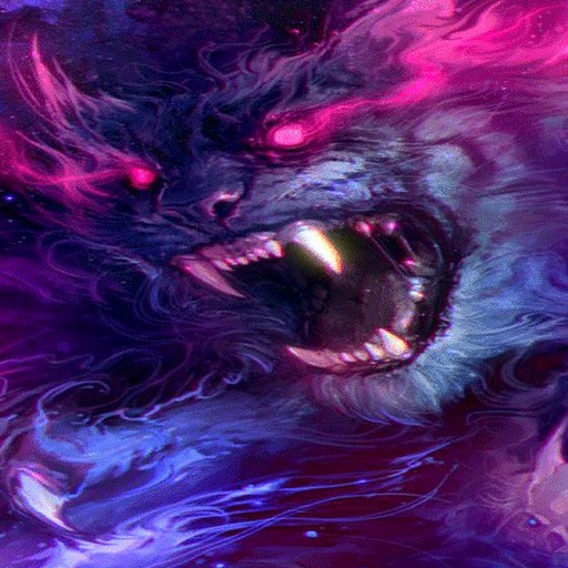 Blue Fiery Beast LWP