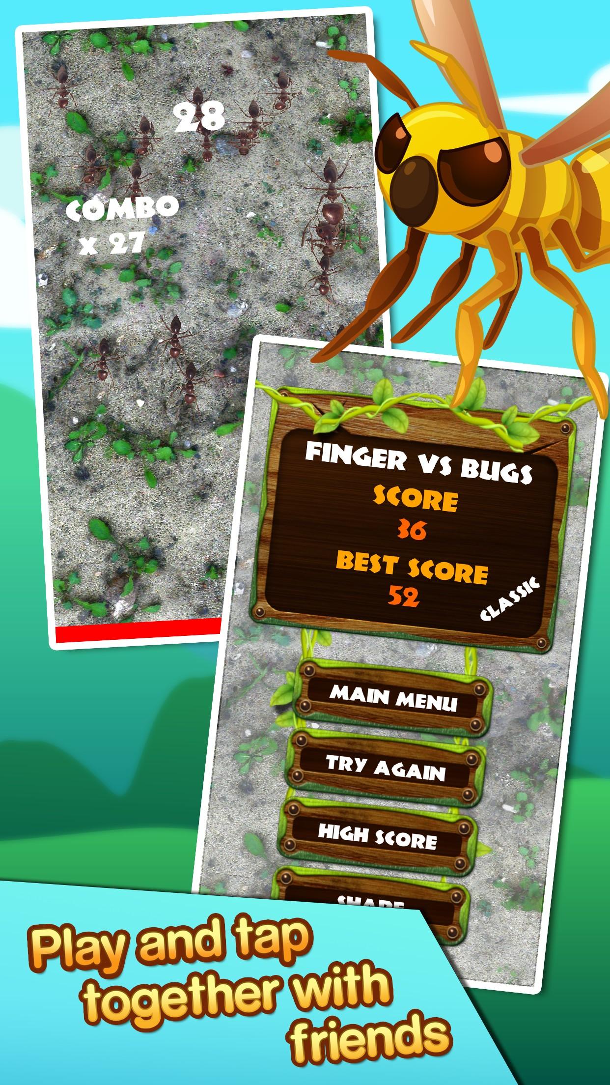 Finger vs bugs