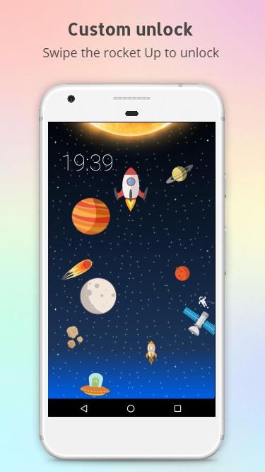 Rocket - animated screen lock