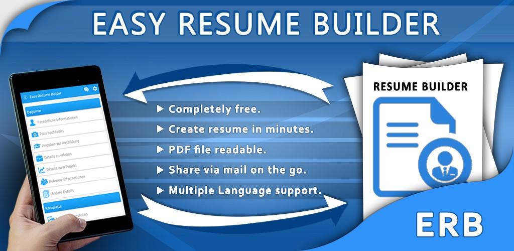 easy resume builder app