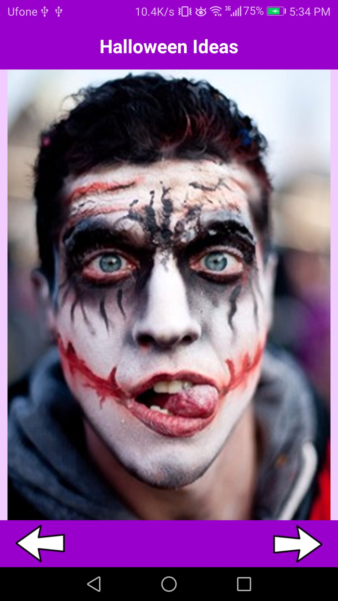 Joker Makeup Halloween