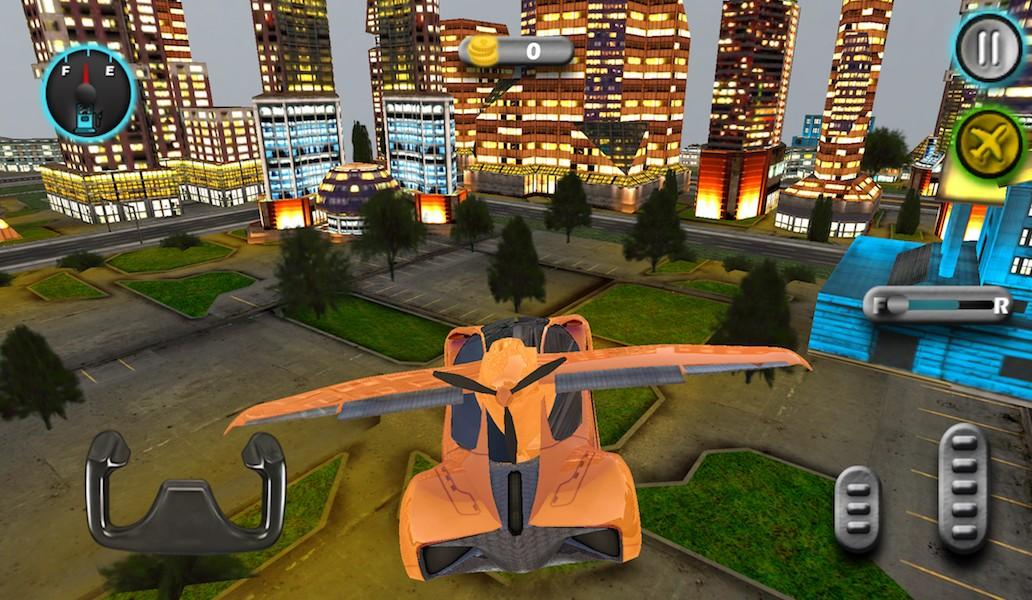 Sports Flying Car 3d Games